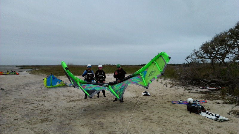 Downwinder with Rene and Jen in Avon, NC
