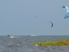Flat water kiteboarding on the Pamlico Sound