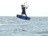 Audra first jumps kiteboarding
