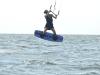 Audra first jumps kiteboarding