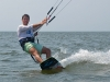 Misha Flat water kiteboarding on the Pamlico Sound