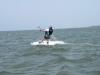 Eric first water start with Kite Club Hatteras