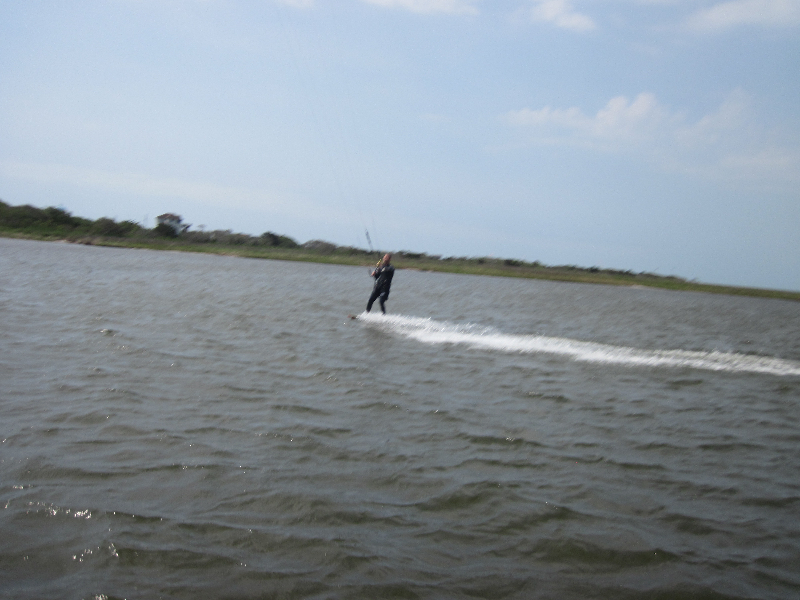 Nick\'s boat support downwinder in the OBX sound