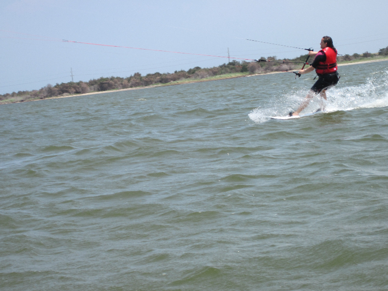 Day 3 Kiteboarding with proper body and board position