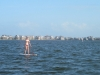 Stand up paddle in the flat water of the Outer Banks Sound