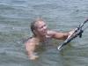 Bodydraging in shallow water