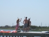 Kiteboarding and SUP Wedding party with KIte Club Hatteras Croatan Ridge, Buxton
