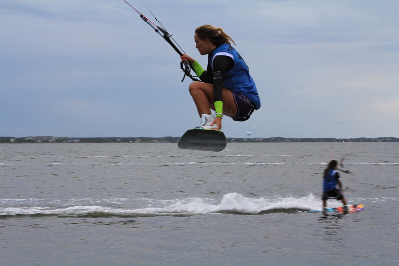 iTriple S at Kite Point, Avon, NC with Kite Club Hatteras. KIteboarding Tricks, Kris Kinn