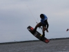 Triple S at Kite Point, Avon, NC with Kite Club Hatteras. Handle Pass KIteboarding Trick, Andre Philip