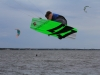 Triple S at Kite Point, Avon, NC with Kite Club Hatteras. Handle Pass KIteboarding Trick, Sui Mai