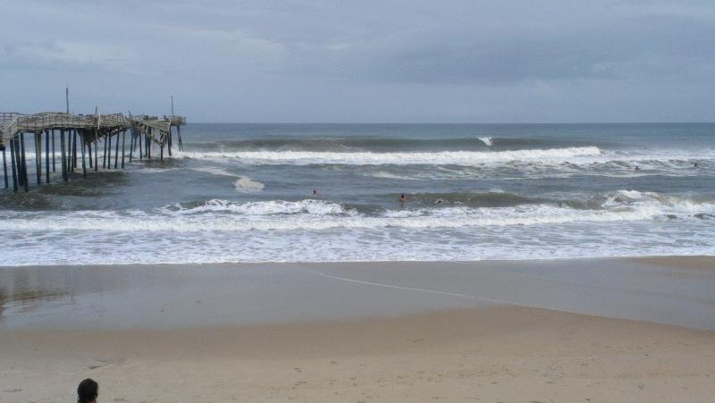 Bertha, big surf at Frisco Pier, OBX
