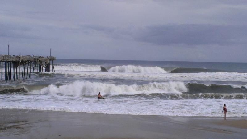 Tropical Storm Bertha, we got the surf...Frisco pier, OBX