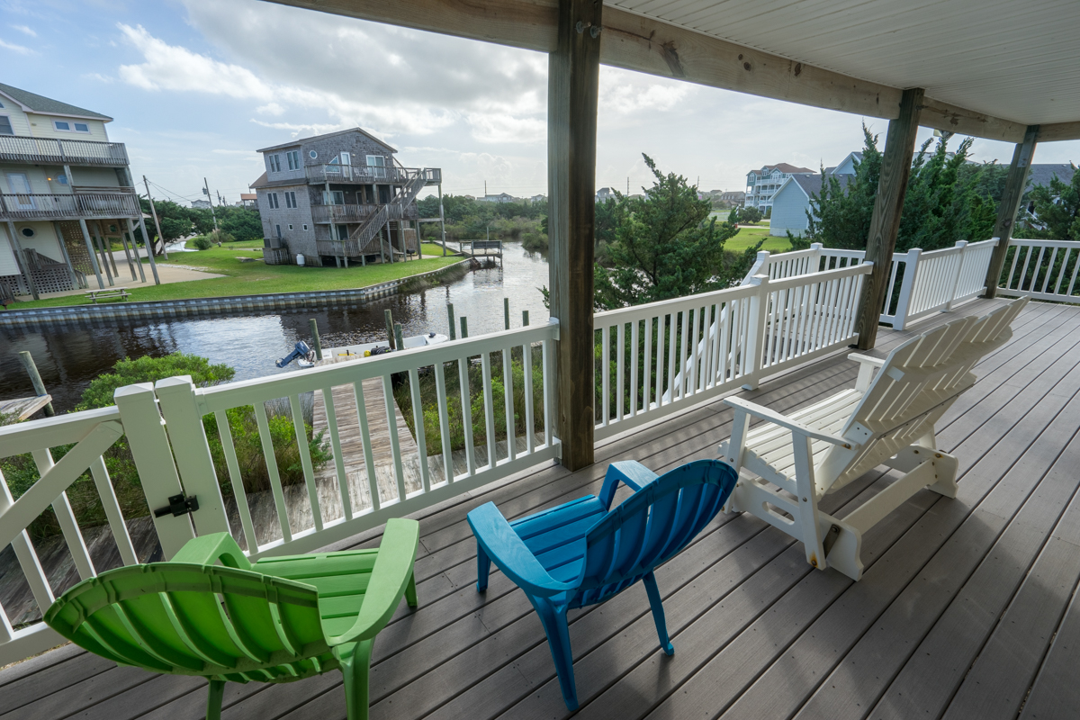 Kite Club Hatteras Guest House – back deck