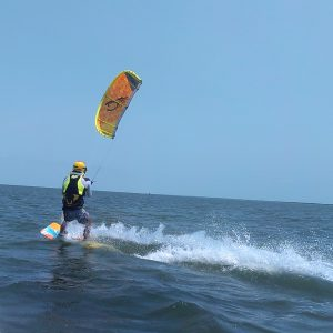 Kitesurfing Up and Riding