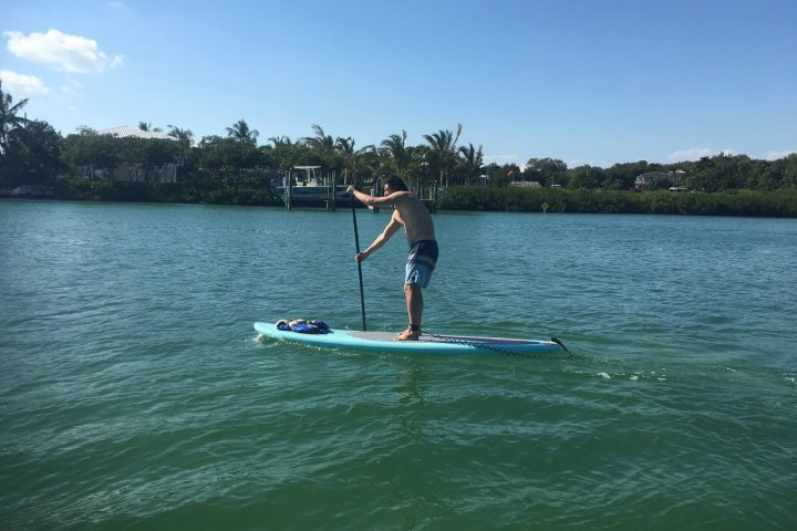 Hristo stand up paddleboarding